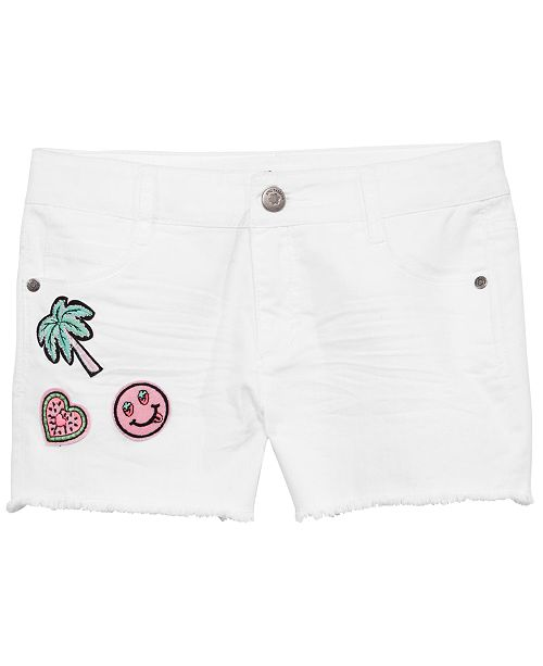 Epic Threads Big Girls Patched Twill Shorts, Created for Macy's