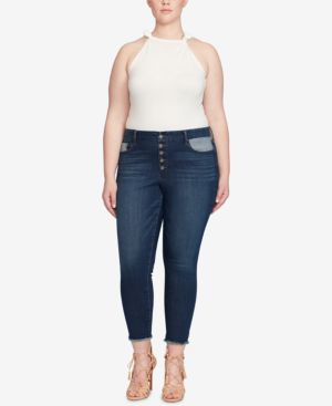 Jessica Simpson Trendy Plus Size Adored Curvy-Fit Skinny Jeans 6053567