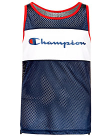 Champion Logo-Print Mesh Tank Top, Big Boys