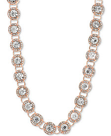 "Anne Klein Crystal & Pavé Collar Necklace, 16"" + 3"" extender"