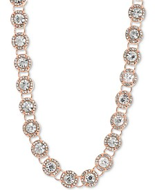 "Anne Klein Crystal & Pavé Collar Necklace, 16"" + 3"" extender"
