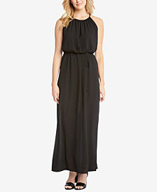 Karen Kane Halter Tie-Belt Maxi Dress