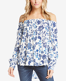 Karen Kane Off-The-Shoulder Printed Top
