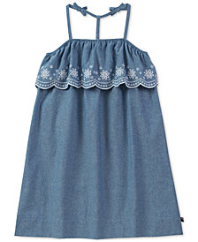 Tommy Hilfiger Embroidered Chambray Dress, Big Girls