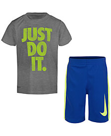 Nike 2-Pc. Graphic-Print T-Shirt & Shorts Set, Little Boys