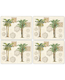 Pimpernel Vintage Palm Study Set of 4 Placemats