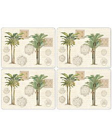 Pimpernel Vintage Palm Study Set of 4 Placemats