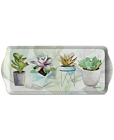 Pimpernel Succulents Melamine Sandwich Tray