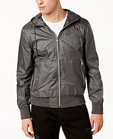 GUESS Men's Hooded Windbreaker
