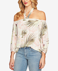 CeCe Off-The-Shoulder Halter Top