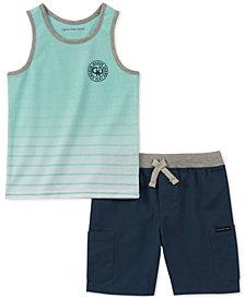 Calvin Klein 2-Pc. Graphic-Print Tank Top & Shorts Set, Little Boys