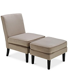 Olivia Accent Chair & Ottoman Set
