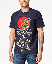 Sean John Men's Okinawan Crane Embroidered T-Shirt, Created for Macy's
