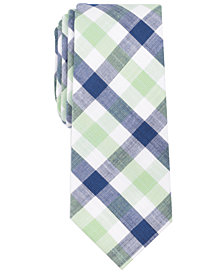 Bar III Men's Baikal Plaid Skinny Tie, Created for Macy's