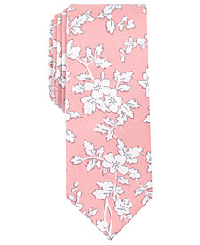 Bar III Men's Dao Floral Skinny Tie, Created for Macy's
