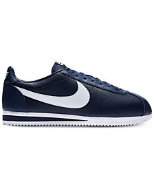 Nike Men's Classic Cortez Leather Casual Sneakers from Finish Line