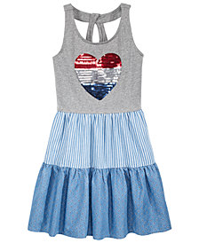 Epic Threads Sequin Heart Tank Dress, Big Girls, Created for Macy's