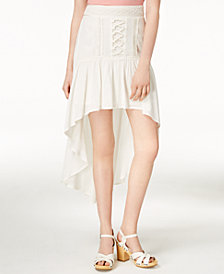 American Rag Juniors' Crochet-Trimmed High-Low Skirt, Created for Macy's