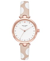 e53813bfdd6 kate spade new york Women s Holland Nude   White Leather Strap Watch 34mm