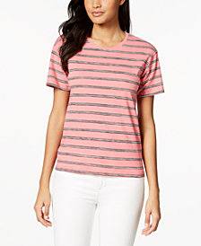 Lacoste Striped Cotton T-Shirt