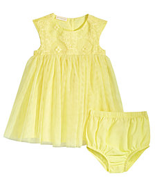 First Impressions Baby Girls Eyelet Lace Dress, Created for Macy's