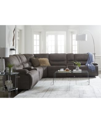 Excellent Finders Felyx Fabric Power Reclining Sectional Sofa Machost Co Dining Chair Design Ideas Machostcouk