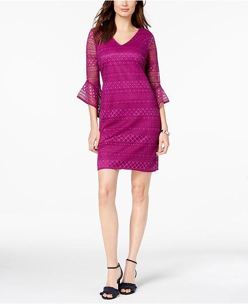 b135540738 Alfani Petite Lace Shift Dress