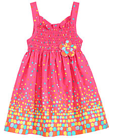 Blueberi Boulevard Baby Girls Boulevard Smocked Sundress
