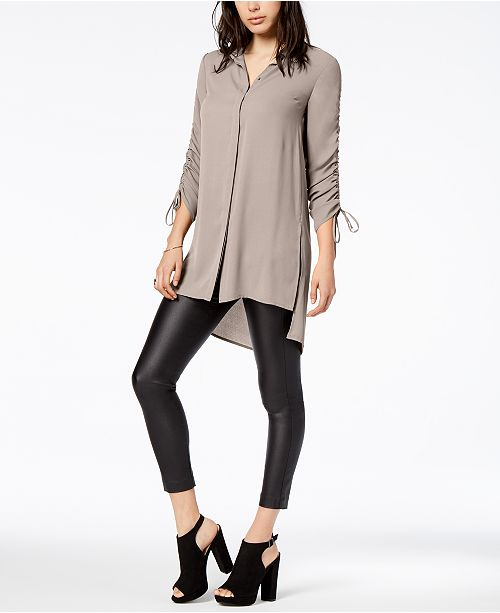 Ruched High-Low Shirt, Created for Macy's