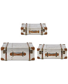 INK+IVY Bowery Vintage Trunk, Set of 3