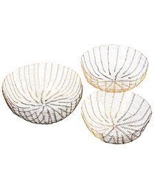 Madison Park Lawton Wire Baskets, Set of 3