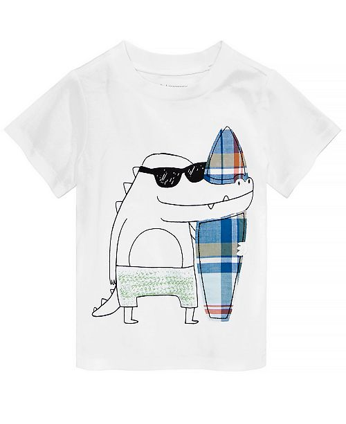 First Impressions Baby Boys Alligator-Print Cotton T-Shirt, Created for Macy's