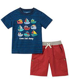 Kids Headquarters Baby Boys 2-Pc. Sailboat T-Shirt & Cargo Shorts Set