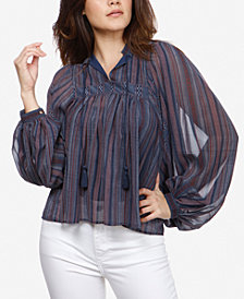 Lucky Brand Striped Peasant Top