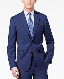 Men's Skinny Fit Infinite Stretch Blue Twill Suit Jacket