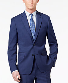 Calvin Klein Men's Skinny Fit Infinite Stretch Blue Twill Suit Jacket