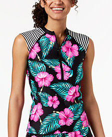 Body Glove Juniors' Molokai Printed Sleeveless Rash Guard