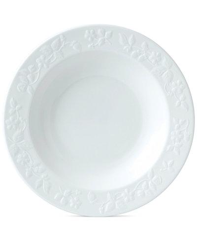 WedgwoodWild Strawberry White Rim Soup Bowl