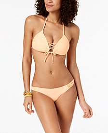 Body Glove Juniors'  Baby Love Push-Up Halter Top & Strappy Bikini Bottoms