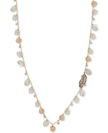 "lonna & lilly Gold-Tone Pavé & Imitation Pearl 36"" Strand Necklace"