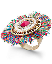 Thalia Sodi Gold-Tone Crystal & Stone Fan Ring, Created for Macy's
