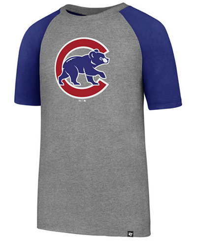 '47 Brand Chicago Cubs Super Rival Raglan T-Shirt, Big Boys (8-20)