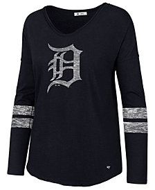 '47 Brand Women's Detroit Tigers Court Side Long Sleeve T-Shirt