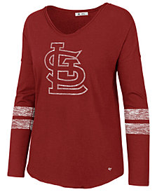 '47 Brand Women's St. Louis Cardinals Court Side Long Sleeve T-Shirt