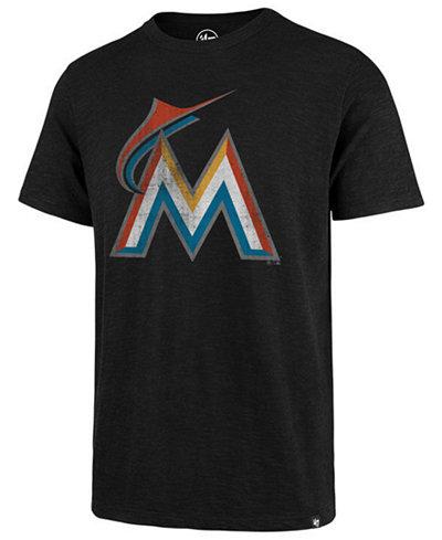 '47 Brand Men's Miami Marlins Scrum Logo T-Shirt