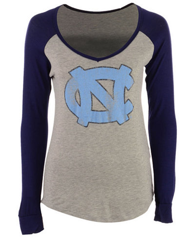 Retro Brand North Carolina Tar Heels NCAA Women's Raglan Long Sleeve T-Shirt