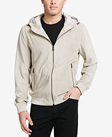 Levi's® Men's Perforated Faux-Suede Hoodie