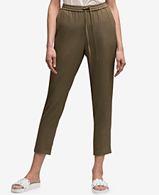 DKNY Drawstring Pull-On Straight-Leg Pants, Created for Macy's