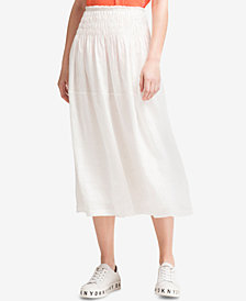 DKNY Linen Tiered Maxi Skirt, Created for Macy's