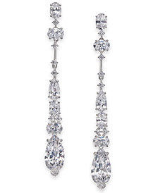 Danori Cubic Zirconia Linear Drop Earrings, Created for Macy's